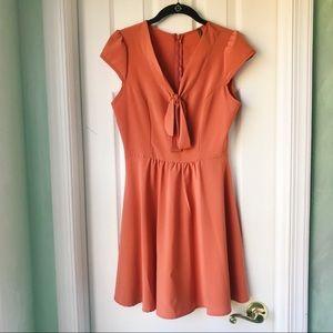 Darling Orange Lulus dress